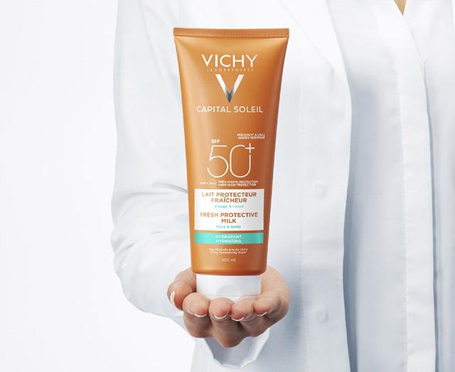 Ochronne mleczko SPF 50, VICHY, IDEAL SOLEIL
