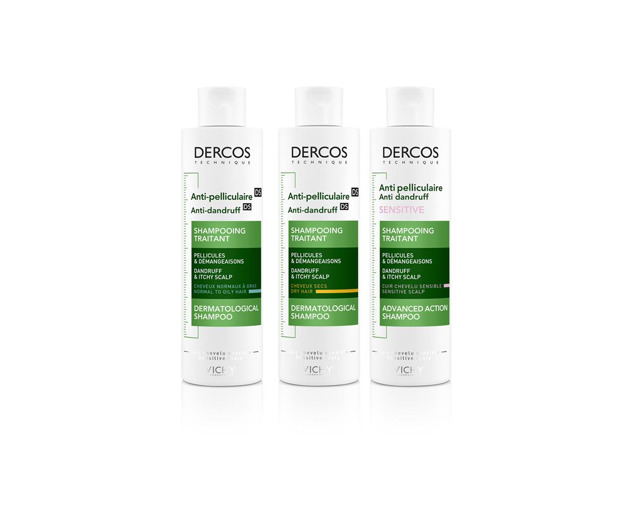 Dercos DS - Szampon przeciwłupieżowy, włosy normalne i przetłuszczające się